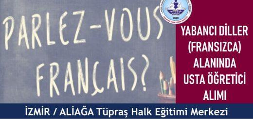 İZMİR ALİAĞA Halk Eğitim Merkezi Yabancı Diller Usta Öğretici Başvurusı