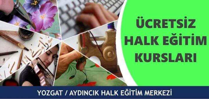 YOZGAT AYDINCIK Halk Eğitim Merkezi Kursları