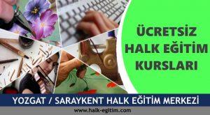 YOZGAT SARAYKENT Halk Eğitim Merkezi Kursları