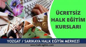 YOZGAT SARIKAYA Halk Eğitim Merkezi Kursları