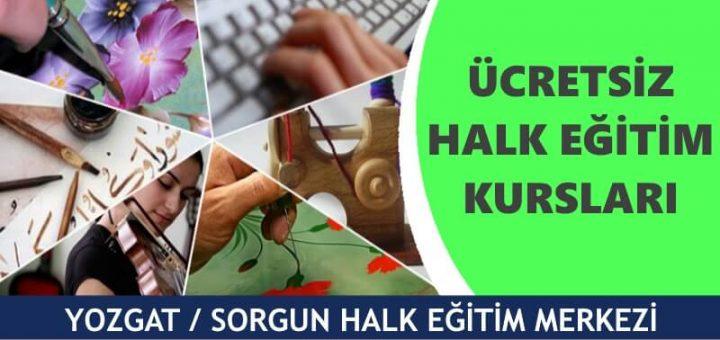 YOZGAT SORGUN Halk Eğitim Merkezi Kursları