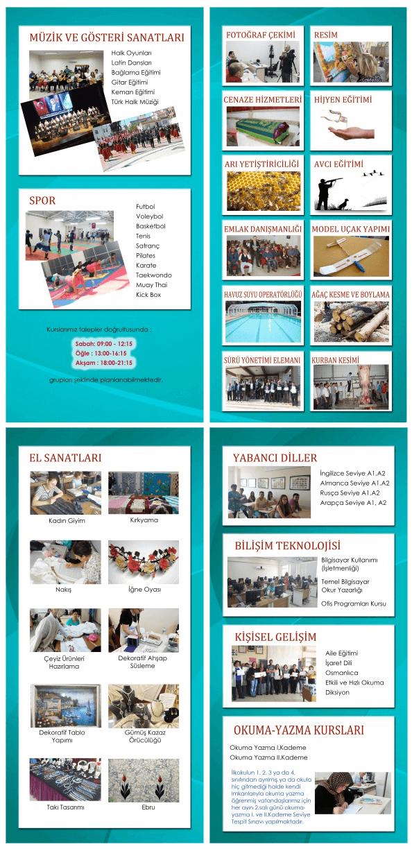 ANTALYA MANAVGAT Halk Eğitim Merkezinde Açılan Kurslar