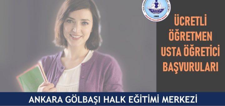 Ankara Gölbaşı halk eğitim merkezi usta öğretici başvuruları