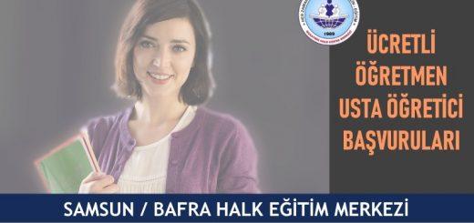 Samsun Bafra halk eğitim merkezi usta öğretici başvuruları