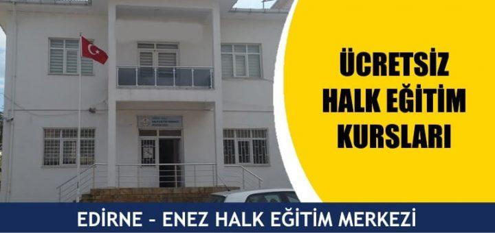 Edirne ücretsiz halk eğitim merkezi kursları