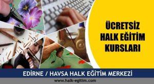 Edirne Havsa halk eğitim merkezi kursları