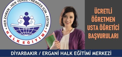 Diyarbakır Ergani Halk Eğitim Merkezi Ücretli Öğretmen Usta Öğretici Başvuruları